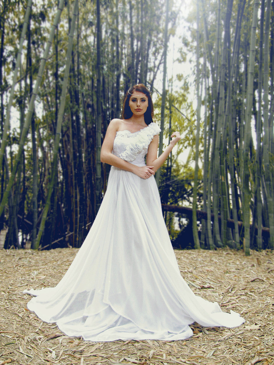 Lauren Elaine Bridal Theodora gown. A-line wedding gowns.