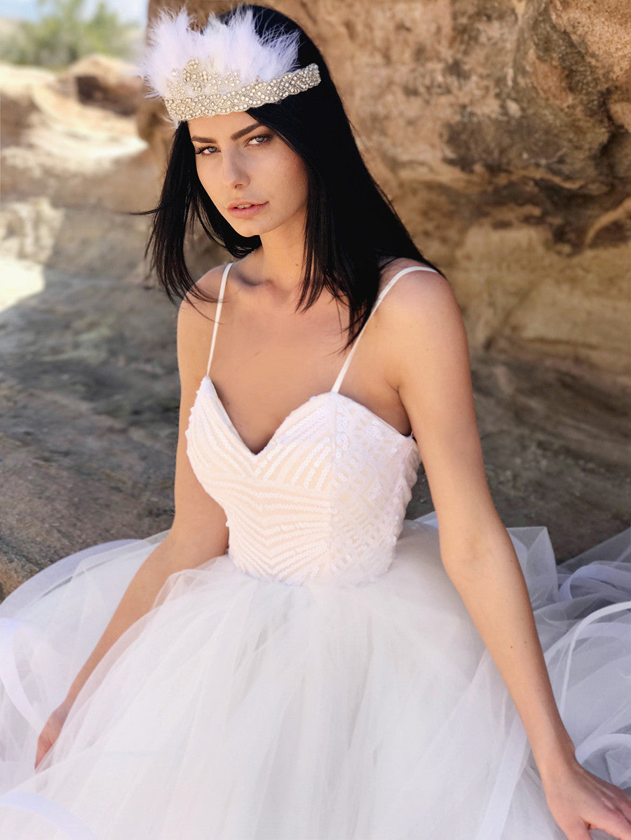 Fairytale wedding gowns and sequin wedding dresses by Lauren Elaine