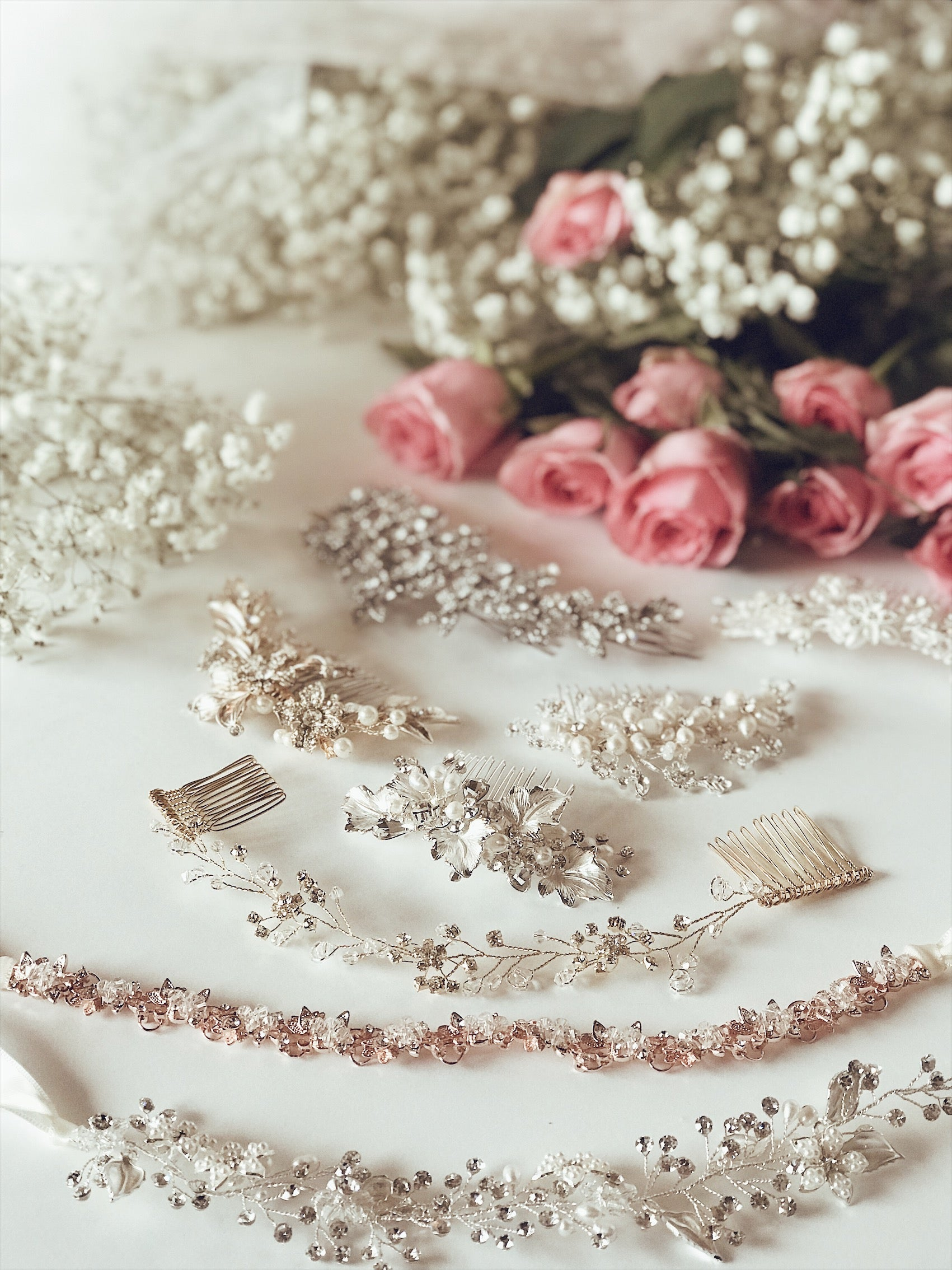 Lauren Elaine Bridal Curated Accessories Collection of hair combs and hair vines