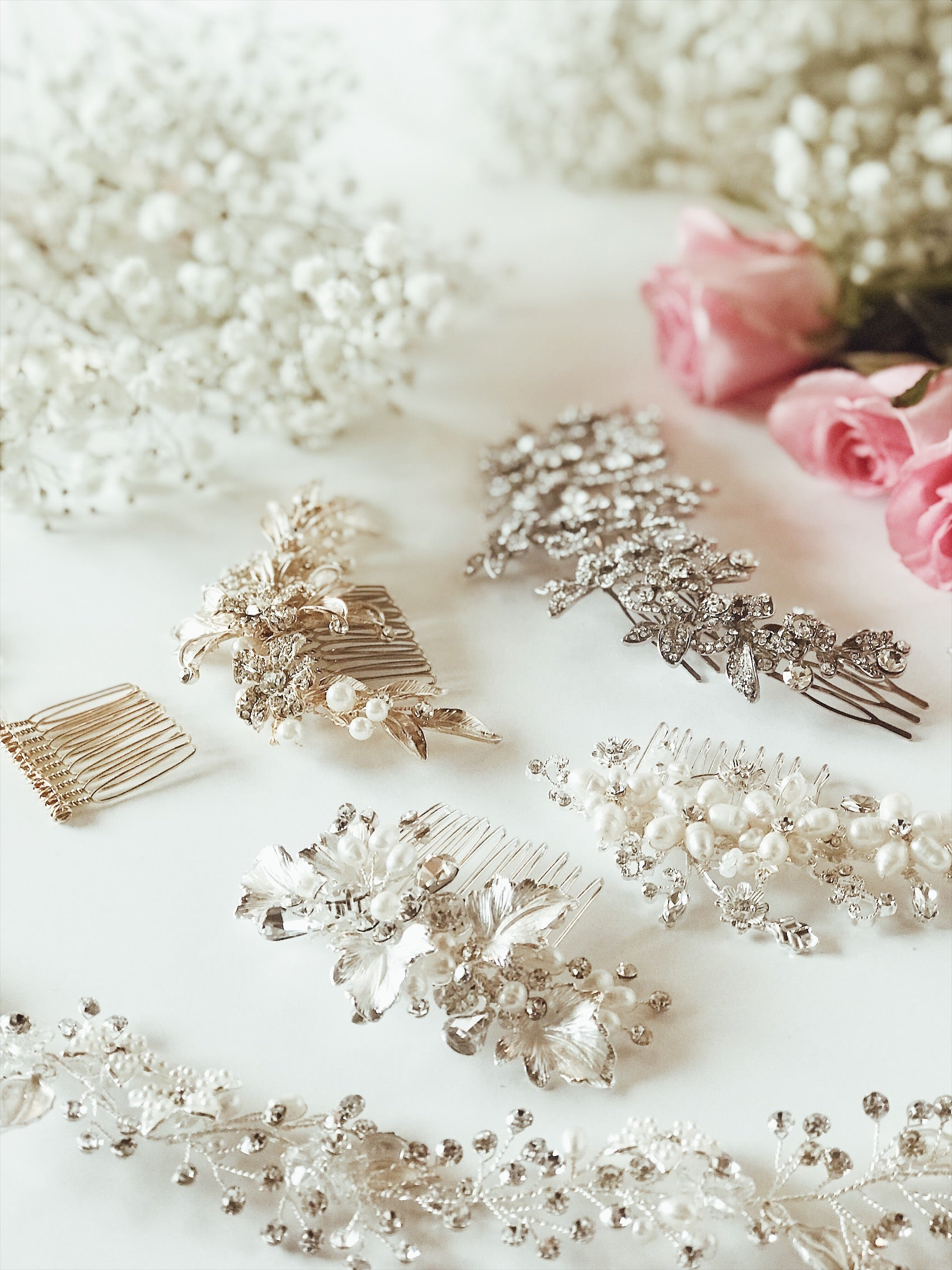 Lauren Elaine Bridal Accessories collection of hair combs and hair vine