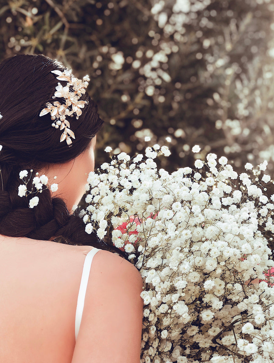 Wedding hair combs and accessories by Lauren Elaine Bridal
