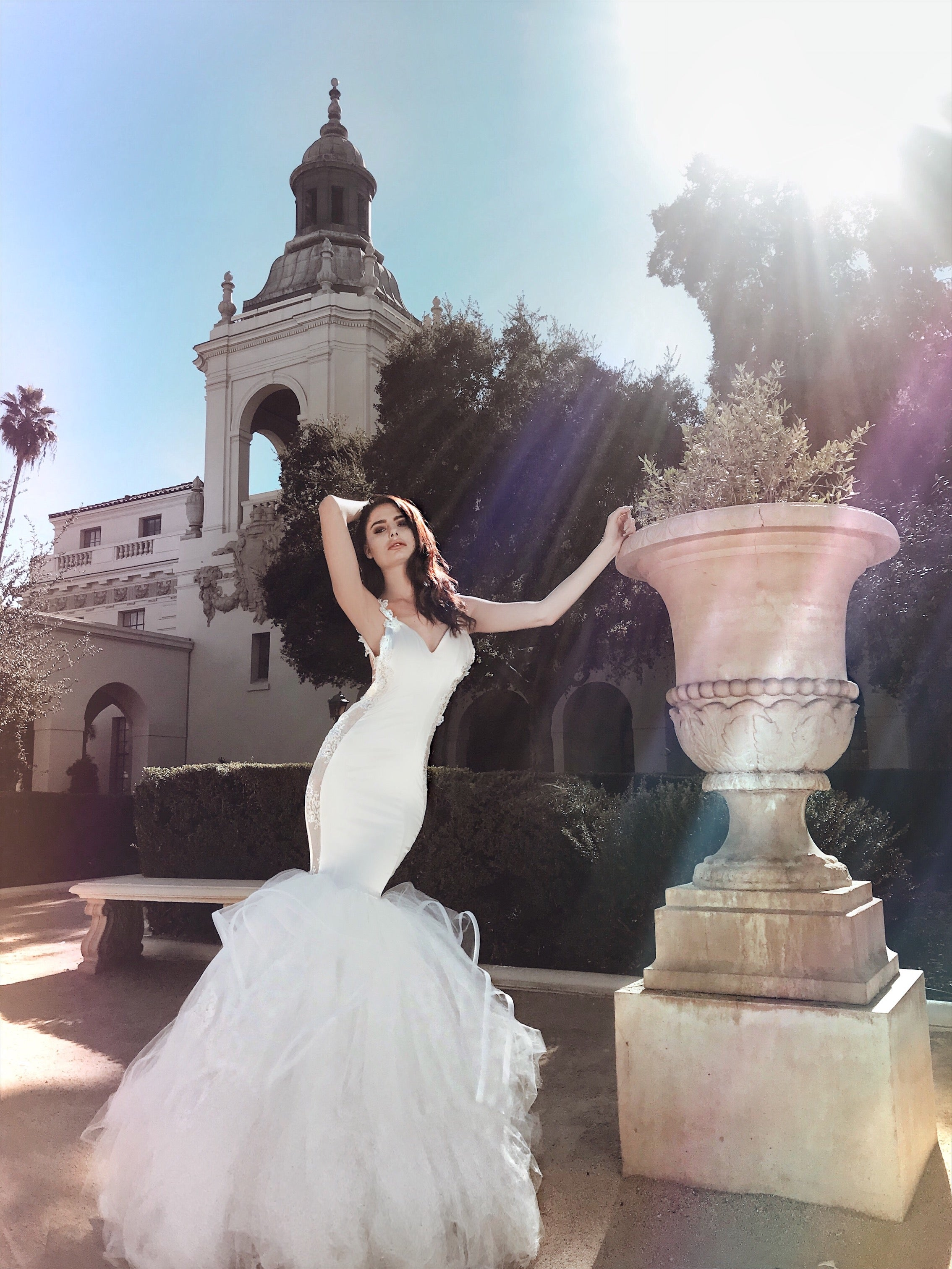 "Sexy form fit ""Euphoria"" wedding dress by Lauren Elaine Bridal of Los Angeles"