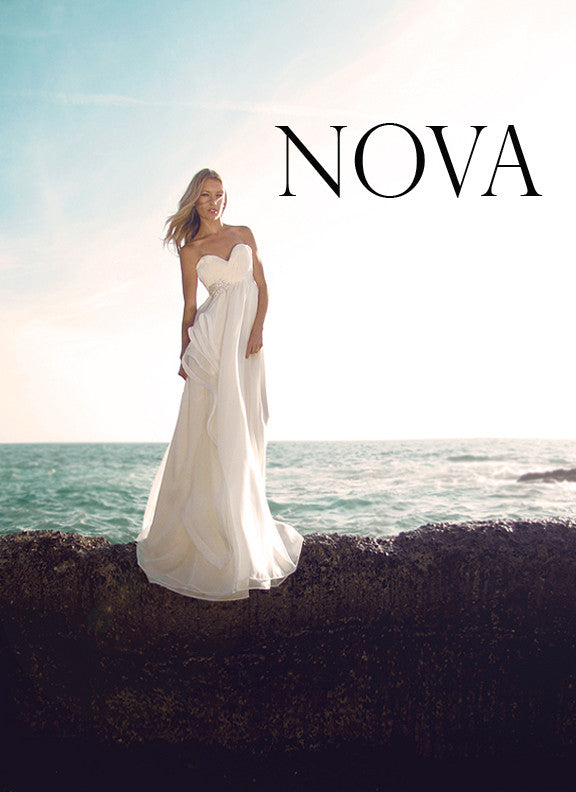 Nova gown by Lauren Elaine Bridal. Bohemian, ethereal bridal gown.