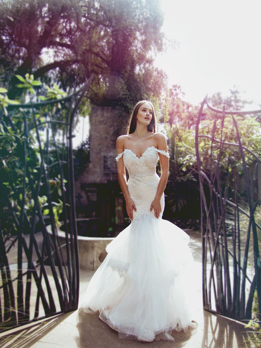 sexy off-the-shoulder mermaid wedding dresses wedding gowns los angeles
