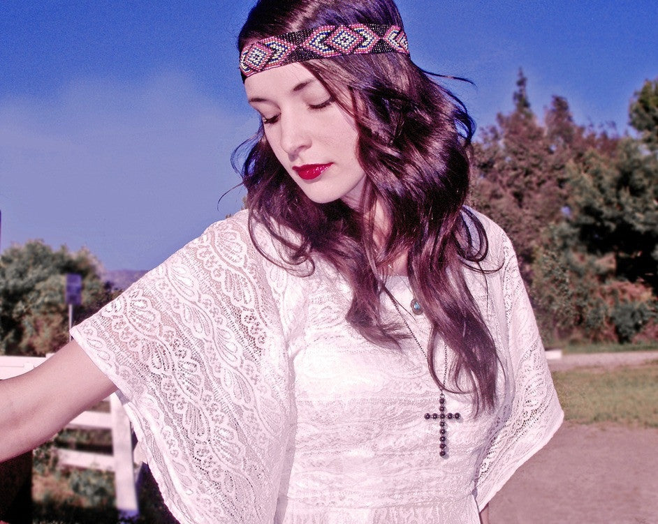 Laine by Lauren Elaine Karma dress. White lace dolman dress.