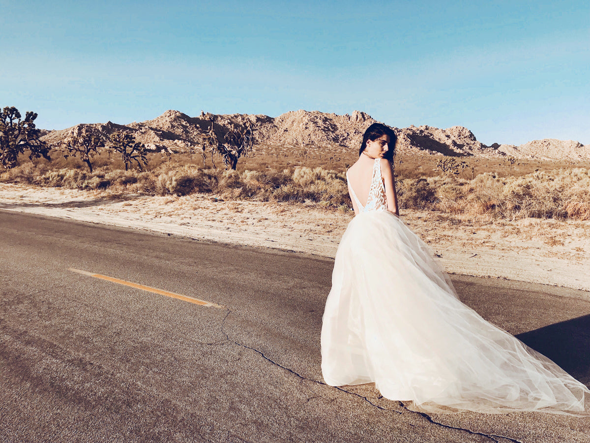 """Isadora"" wedding gown by Lauren Elaine Bridal"