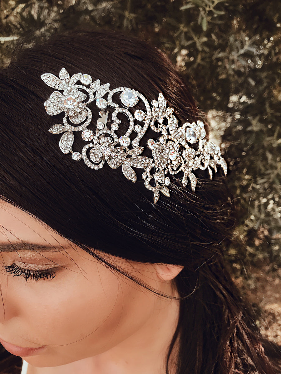 Bridal tiaras and hair combs from Lauren Elaine Accessories collection