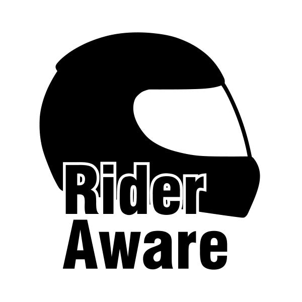 Rider Aware Sticker - Black