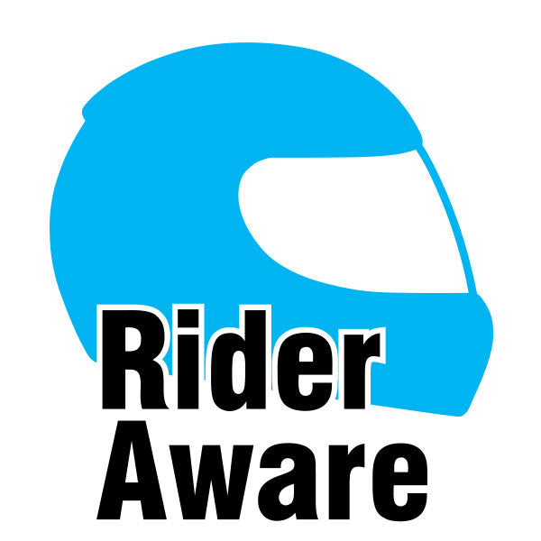 Rider Aware Sticker - Blue