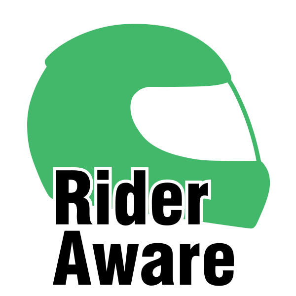 Rider Aware Sticker - Green