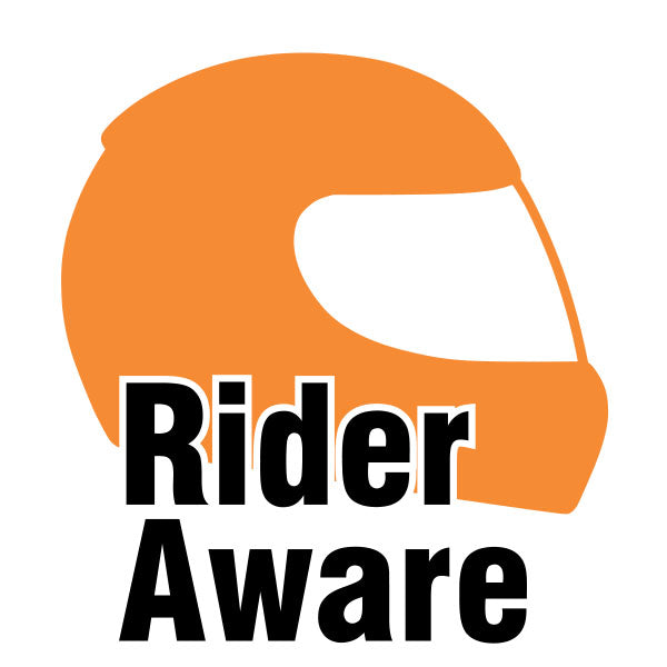 Rider Aware Sticker - Orange