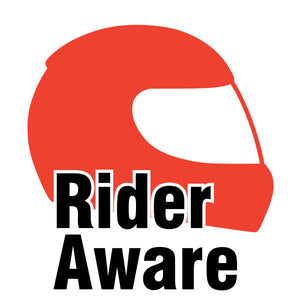 Rider Aware Sticker - Red