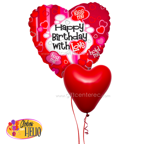 EXTRA: Globo con helio - birthday with love