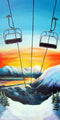 Girdwood Ski Lift at Sunset Art Print