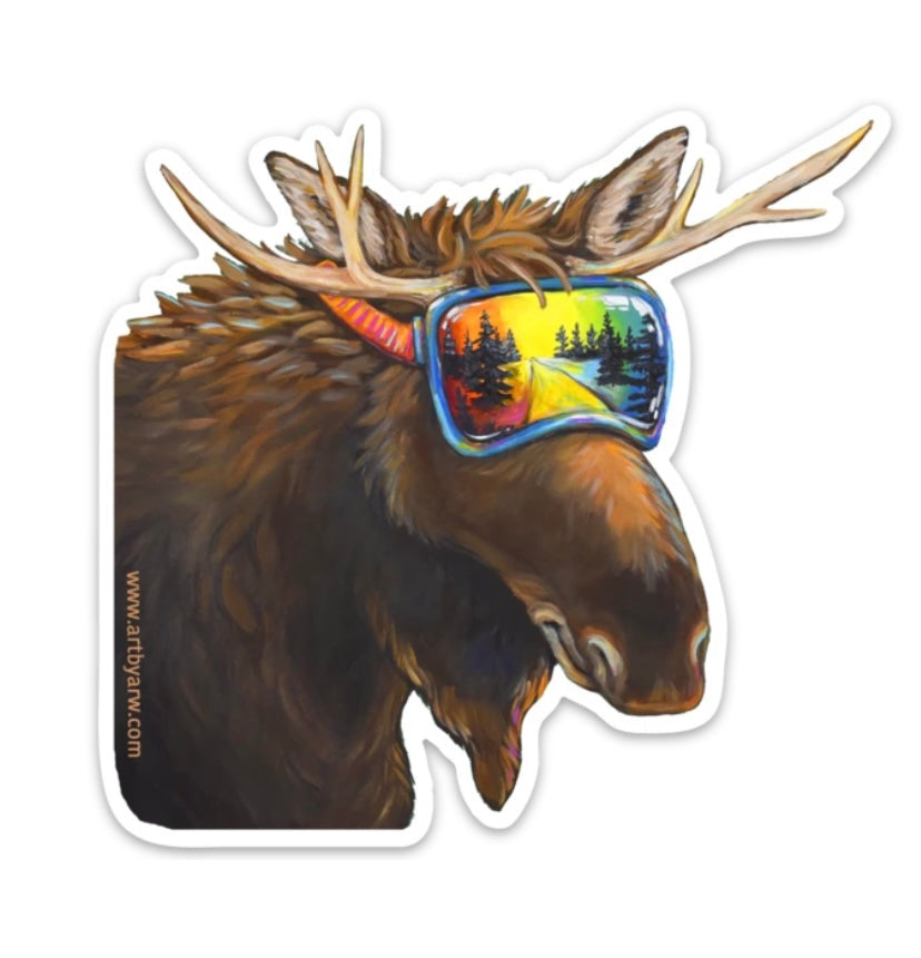 Moose Reflection (goggles) Sticker