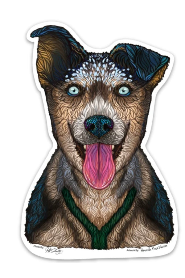 Happy Dog Sticker (limited edition)