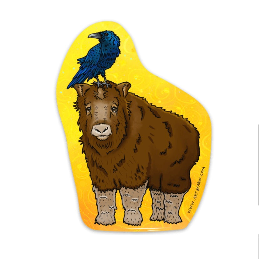 Baby Musk Ox Waterproof Sticker