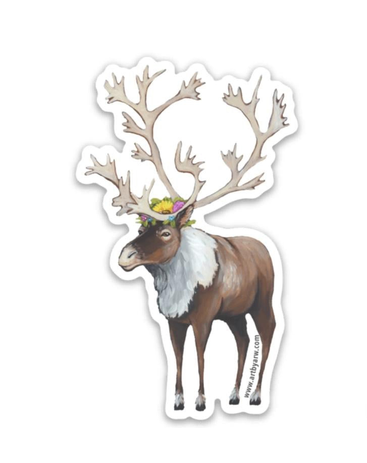 Caribou Mini Sticker