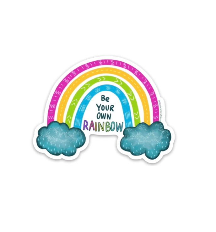 Be Your Own Rainbow Mini Sticker