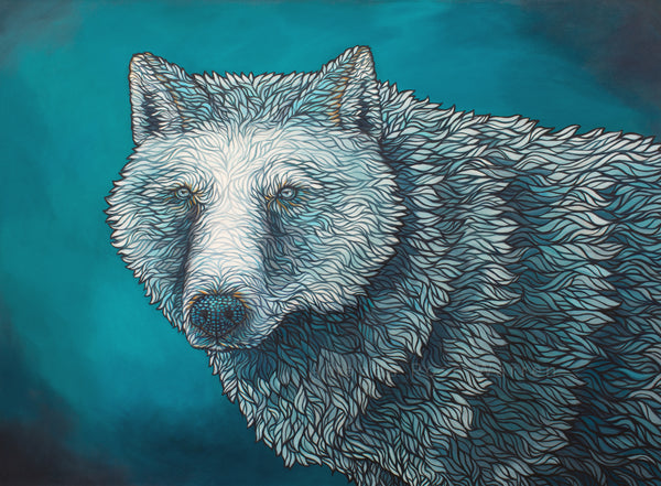 White Wolf- Siku Collection Art Print