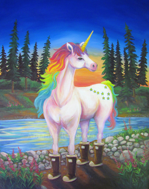 Alaskan Unicorn Art Print