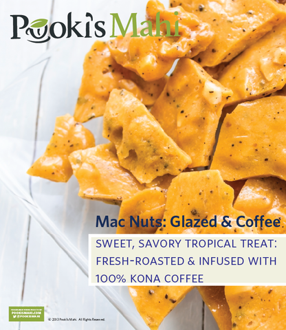 Pooki's Mahi Glazed, Brittle, Cocoa Macadamia Nut Collection