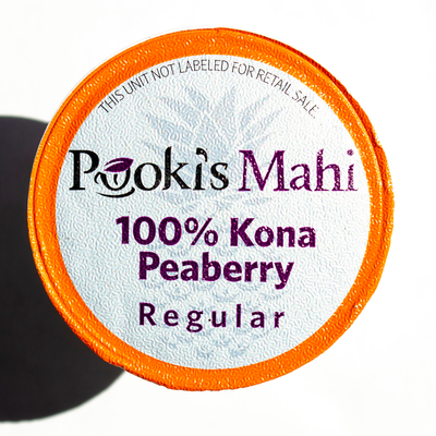 SOLD OUT / SHIPPING 2020: Peaberry 100% Kona Coffee Pods