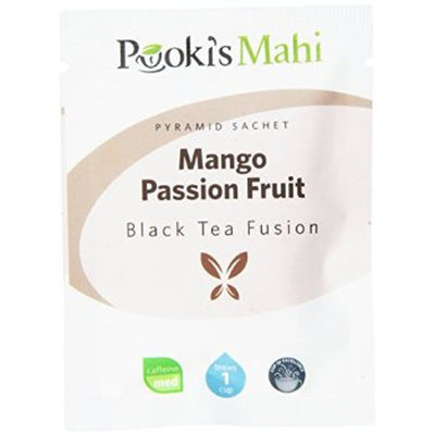 Pooki's Mahi Award-Winning Mango Passion Fruit Pyramid Sachets, 20-count