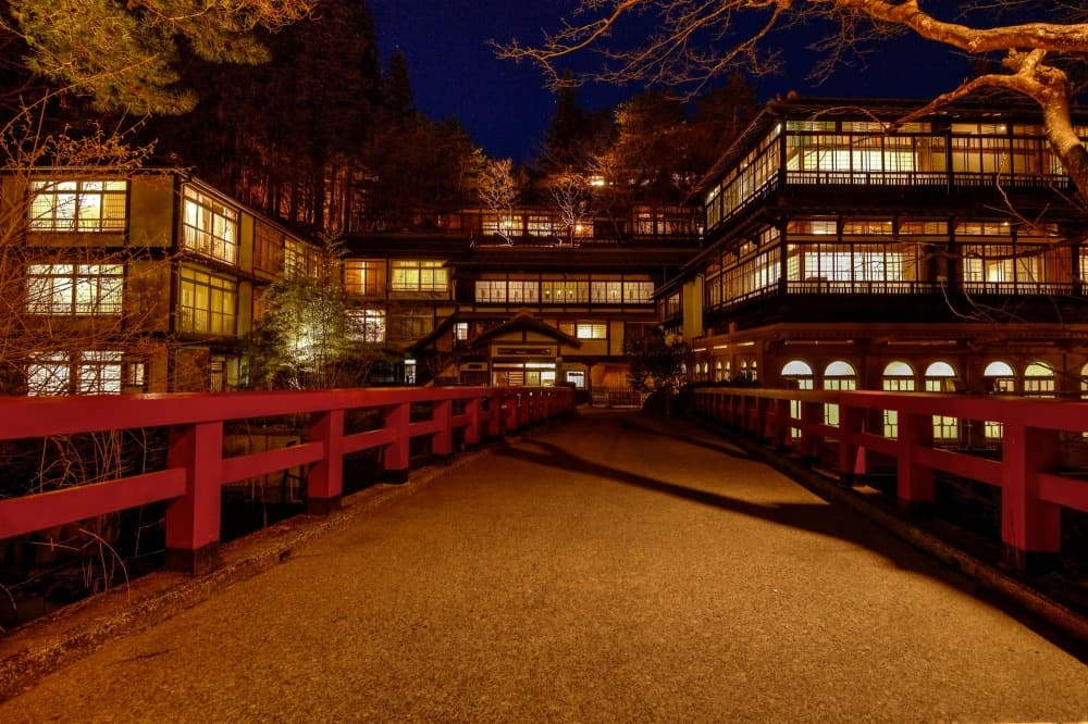 Real Life Location of Spirited Away Animation Movie in Japan Shima Onsen