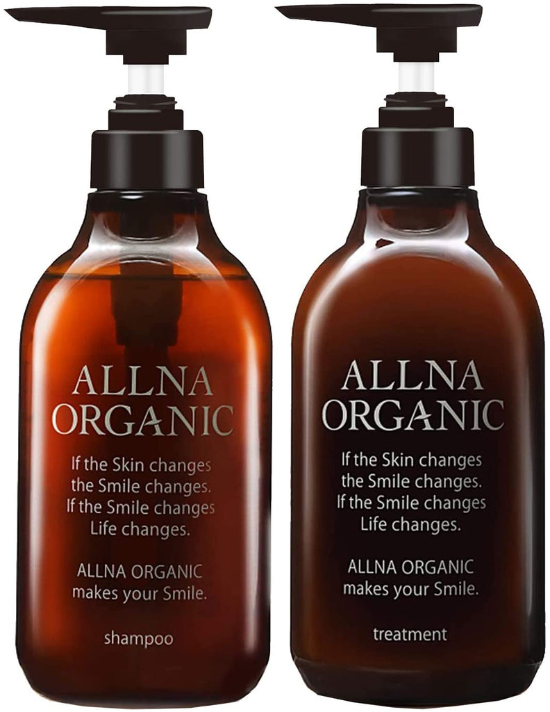 Shampoo Set: ALLNA Organic Shampoo 500 ml and ALLNA Organic Wash-off Treatment 500 ml