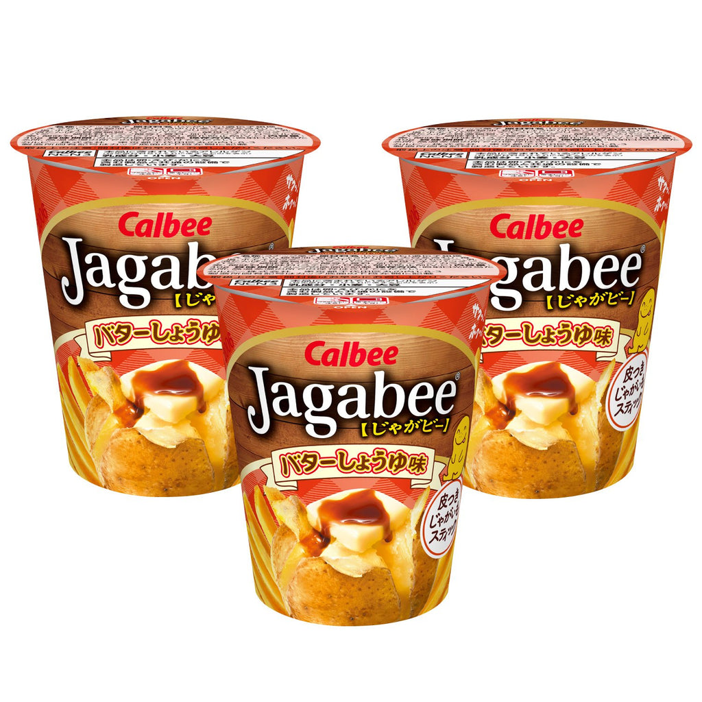 Calbee Jagabee Butter Soy Sauce 3 Pack
