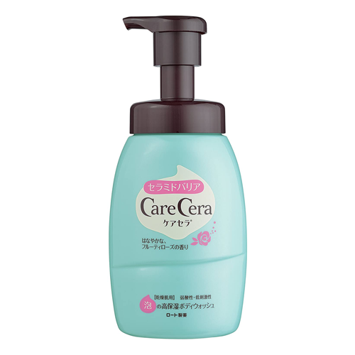 CareCera Ceramide Barrier Foaming Moisturizing Body Wash Fruity Rose Fragrance Pump Type 450ml