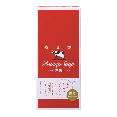 Cow Brand Beauty Soap Red Box 100g 6-Pack