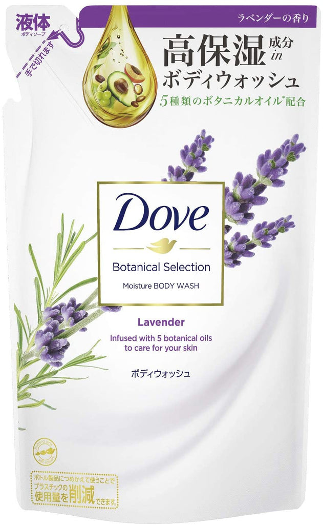 Dove Botanical Selection Body Wash Lavender Refill 360 g