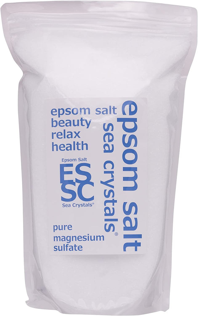 Epsom Salt Sea Crystals (Pure Magnesium Sulfate) Bath Salts (2.2 kg) for Approx.14 Uses