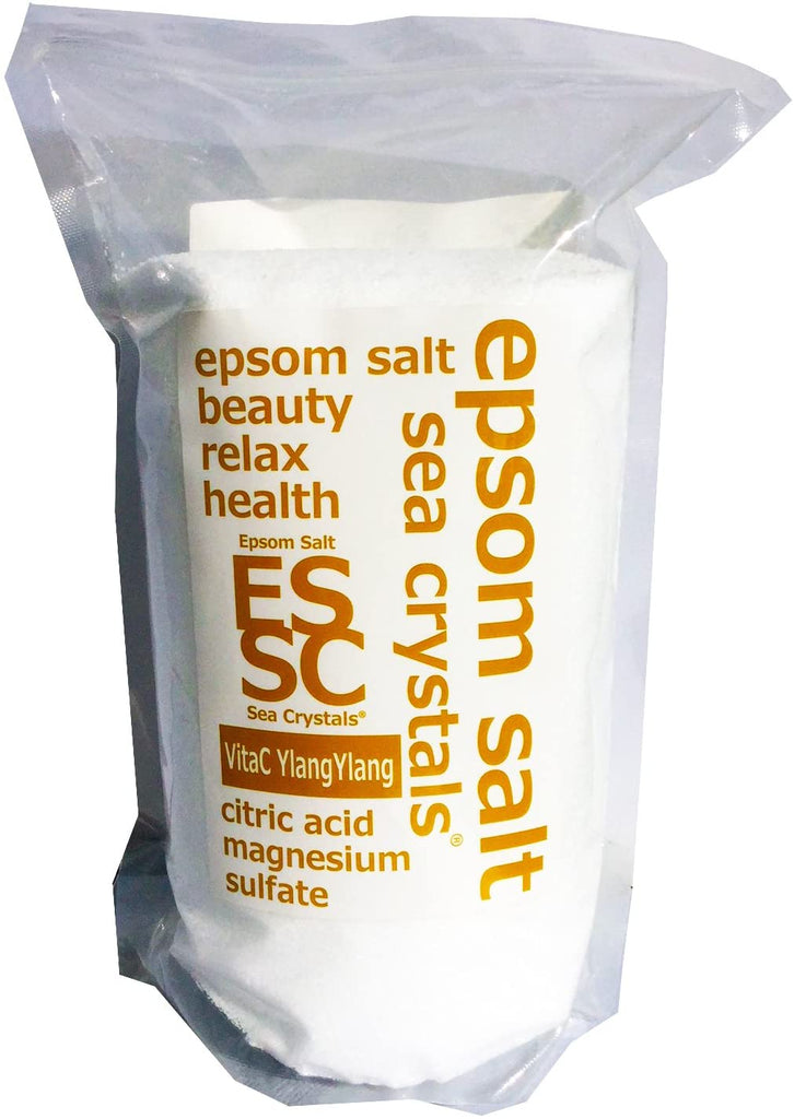 Epson Salt (2.2 kg) VitaC YlangYlang Formulation Includes Measuring Spoon