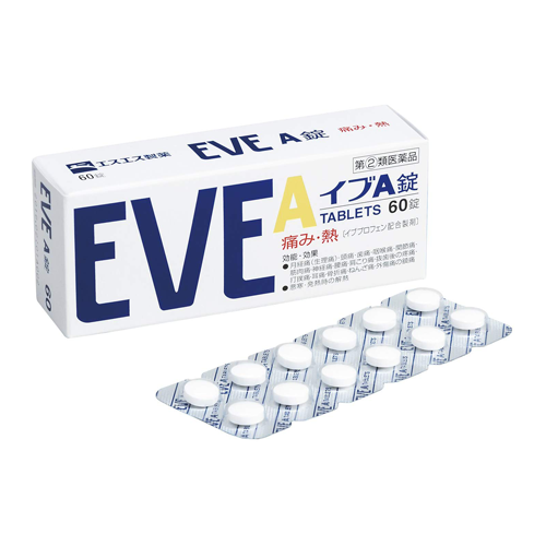 [2nd-Class OTC Drug] EVE A Headache & Pain Relief 60 Tablets