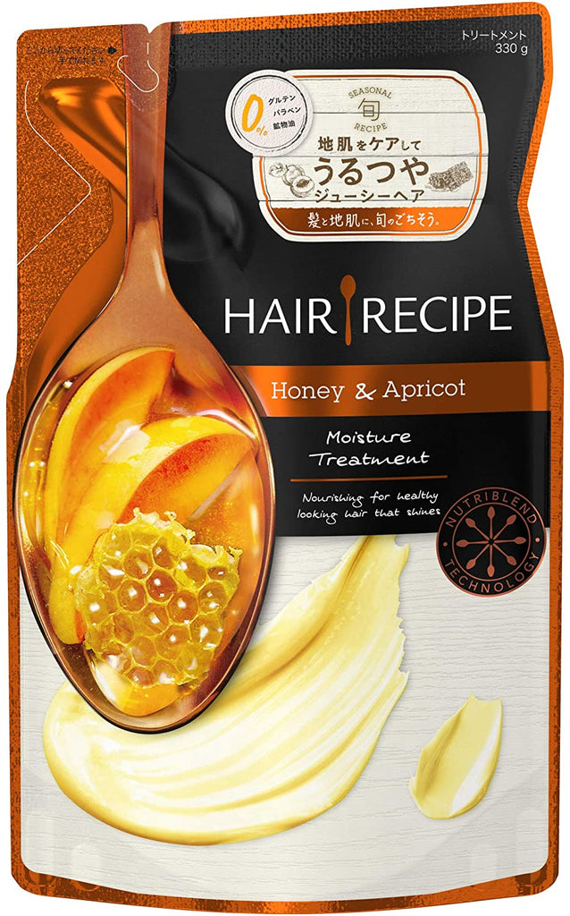 Hair Recipe Rinse Treatment Recipe Honey and Apricot Moisture-Enriching Recipe 330 ml Refill