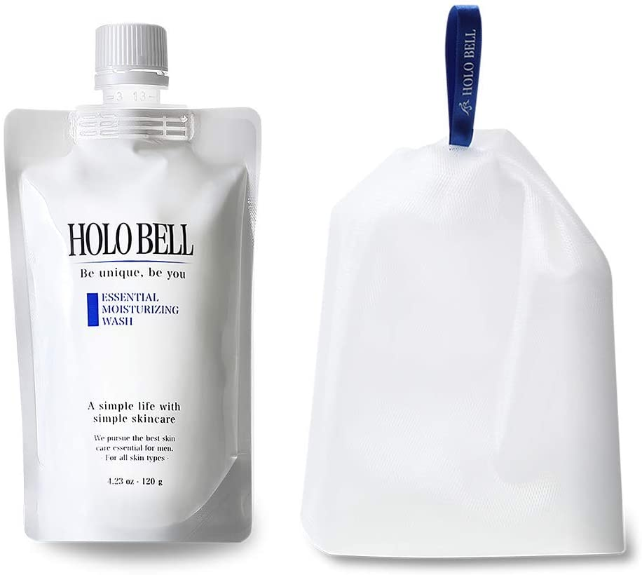 HOLO BELL Essential Moisturizing Wash (120 g) For Men Men Face Care (With Wash Net)