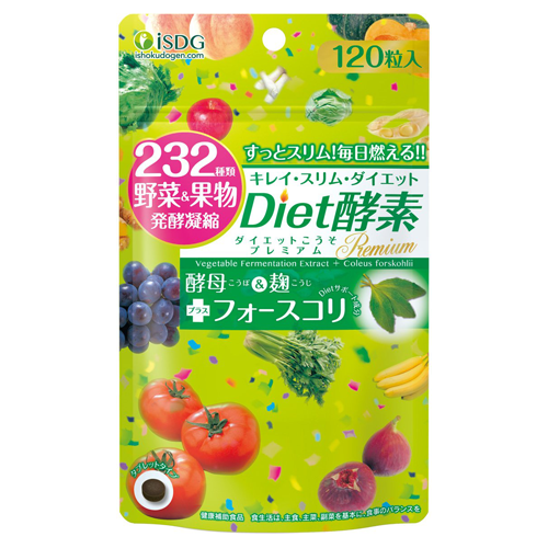ISDG Ishokudogen Diet Enzyme Premium 232 Vegetable Fruits 120 Tablets