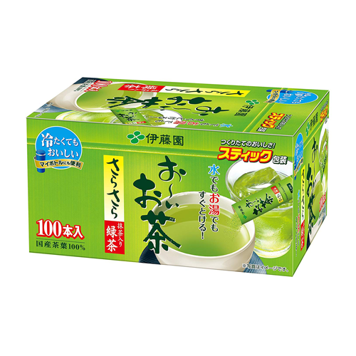 Itoen Oi Oicha Instant Green Tea With Matcha Powder Stick Type 100 Sticks