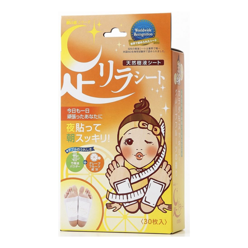 Kinomegumi Ashi Rira Foot Patch Grapefruit