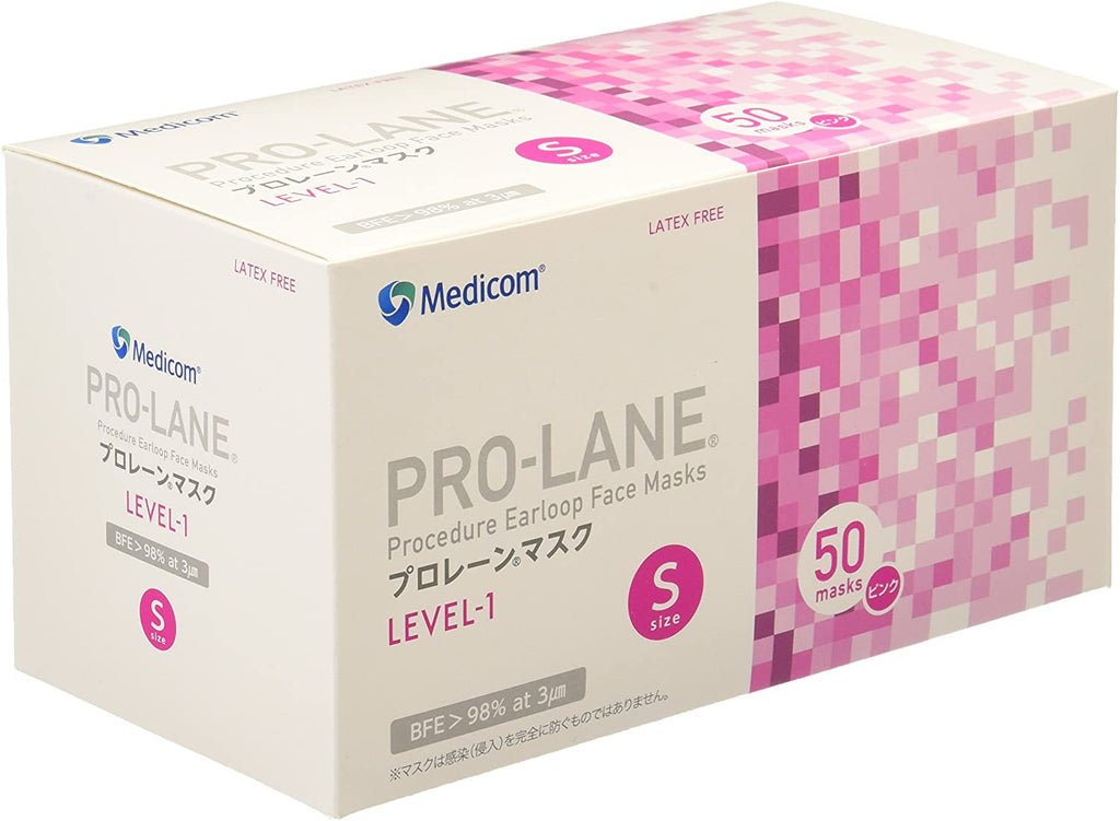 Medicom Prolane Mask 50 Pack Safety Pink