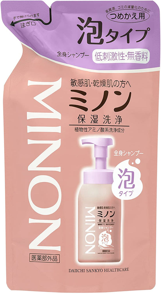 Minon Full Body Shampoo Foam Type Refill 400 ml