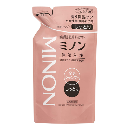 Minon Whole Body Shampoo Moist Type Refill Type 380ml