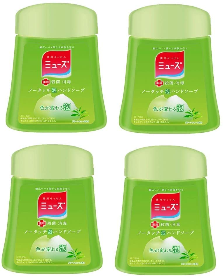 Muse No Touch Foam Hand Soap Refill Green Tea (250ml) Set of 4