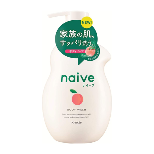 Naive Peach Extract Body Soap Shampoo