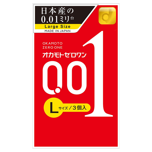 Okamoto Zero One 0.01ml L Size 3 Pieces