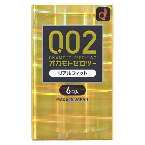 Okamoto Zero Two 0.02ml Real Fit 6 Pieces