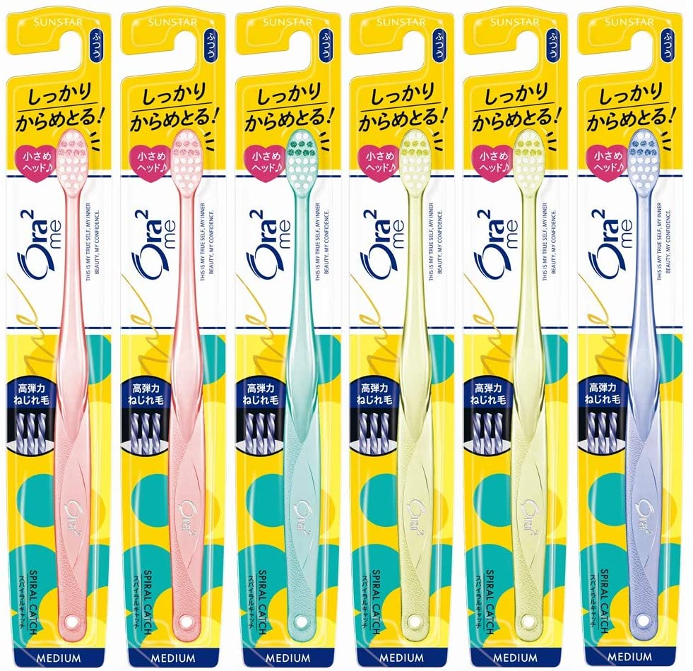 Ora2 Me Toothbrush Spiral Catch [Norm] 6 Pack